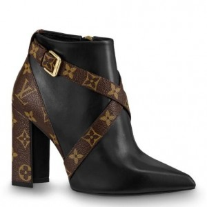 Louis Vuitton Black Matchmake Ankle Boot