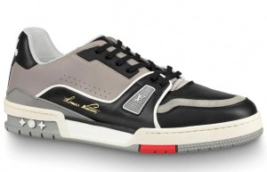 Louis Vuitton LV Trainer Sneakers In Black/Grey Leather
