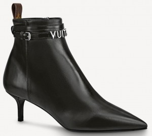 Louis Vuitton Black Call Back Ankle Boots