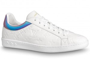 Louis Vuitton Luxembourg Sneakers In White Monogram Leather