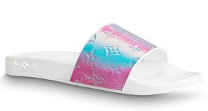 Louis Vuitton Waterfront Mules In Pink Iridescent Monogram