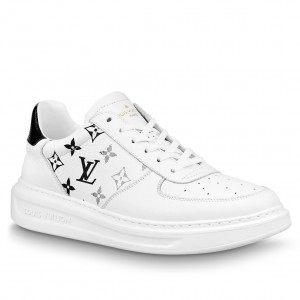 Louis Vuitton White/Black Beverly Hills Sneakers