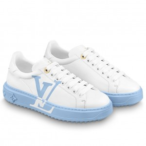 Louis Vuitton White/Light Blue Time Out Sneakers