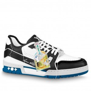 Louis Vuitton LV Trainer Sneakers In Black/White Leather