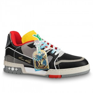 Louis Vuitton LV Trainer Sneakers In Multicolour Leather
