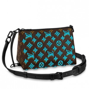 Louis Vuitton Triangle Messenger Monogram Tuffetage M45078