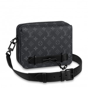 Louis Vuitton Steamer Messenger Bag Monogram Eclipse M45585