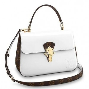 Louis Vuitton White Cherrywood Bag Patent Leather M53352