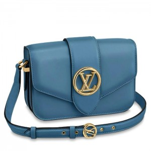 Louis Vuitton LV Pont 9 Bag In Blue Calfskin M55947
