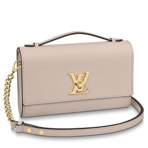 Louis Vuitton Greige Lockme Clutch M56087