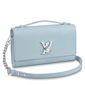 Louis Vuitton Blue Lockme Clutch M56136