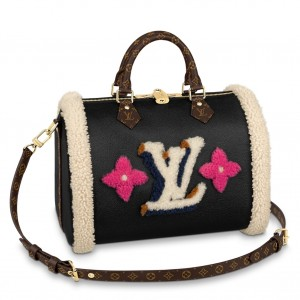 Louis Vuitton Speedy Bandouliere 30 Leather Shearling M56966