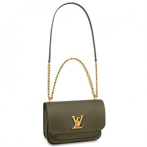 Louis Vuitton Lockme Chain PM Bag In Green Leather M57067