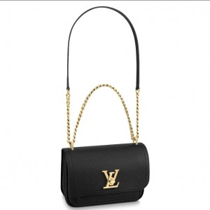 Louis Vuitton Lockme Chain PM Bag In Green Leather M57073