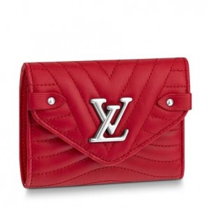 Louis Vuitton Red New Wave Compact Wallet M63428