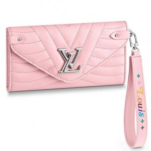 Louis Vuitton Pink New Wave Long Wallet M63729
