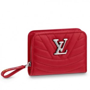 Louis Vuitton Red New Wave Zipped Compact Wallet M63790