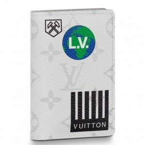 Louis Vuitton Pocket Organizer White Monogram M67817