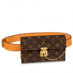 Louis Vuitton S Lock Belt Pouch MM Bag Monogram Canvas M68549