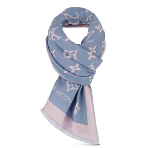 Louis Vuitton Blue Miss LV Stole M76170