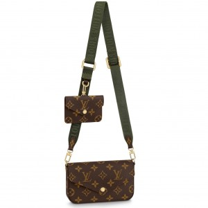 Louis Vuitton Félicie Strap & Go Monogram Canvas M80091