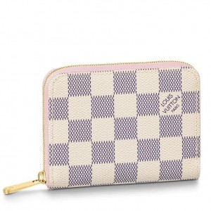Louis Vuitton Zippy Coin Purse Damier Azur N60229