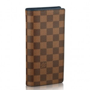 Louis Vuitton Brazza Wallet Damier Ebene N63168
