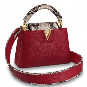 Louis Vuitton Capucines Mini With Python Handle Flap N97074